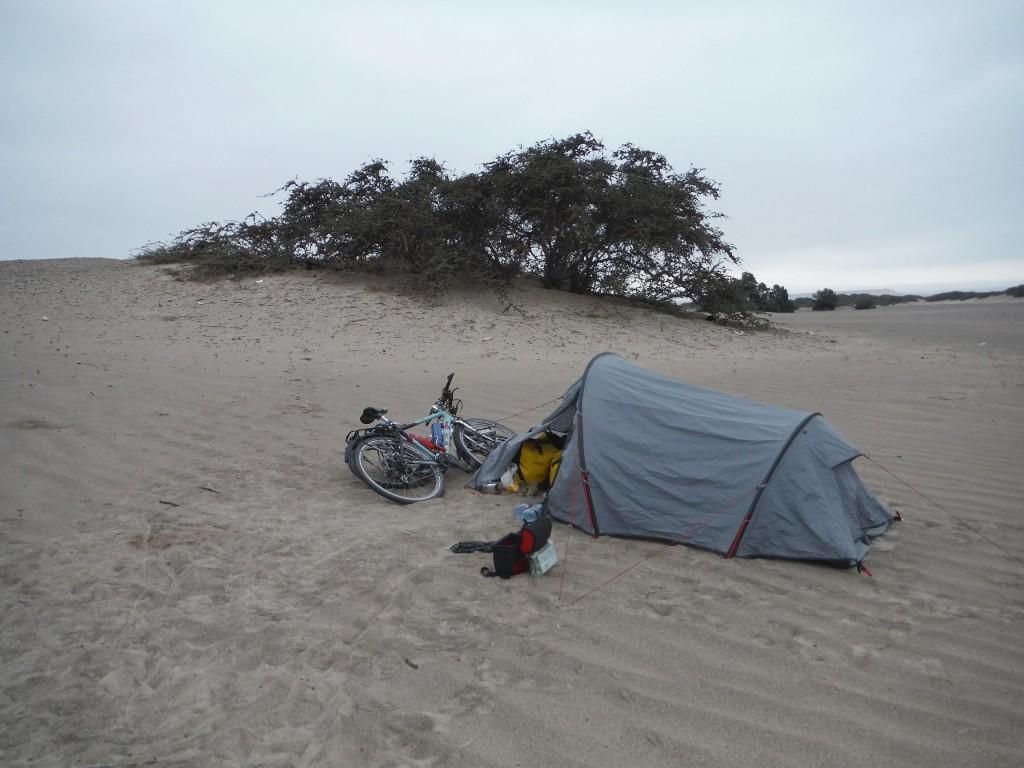 1er bivouak dans le sable