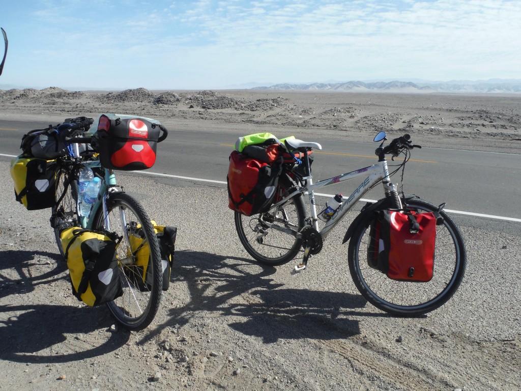 Rouletoutseul et Aspi au mileu du desert