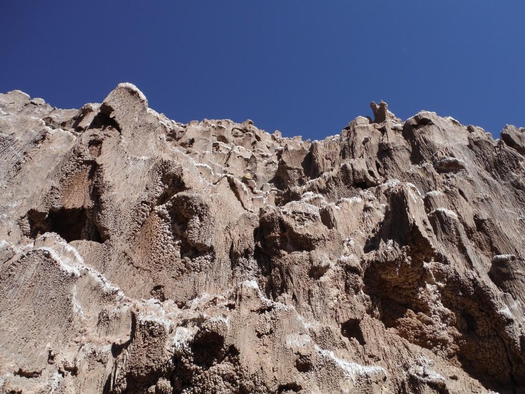 du sel cristalise sur la roche!