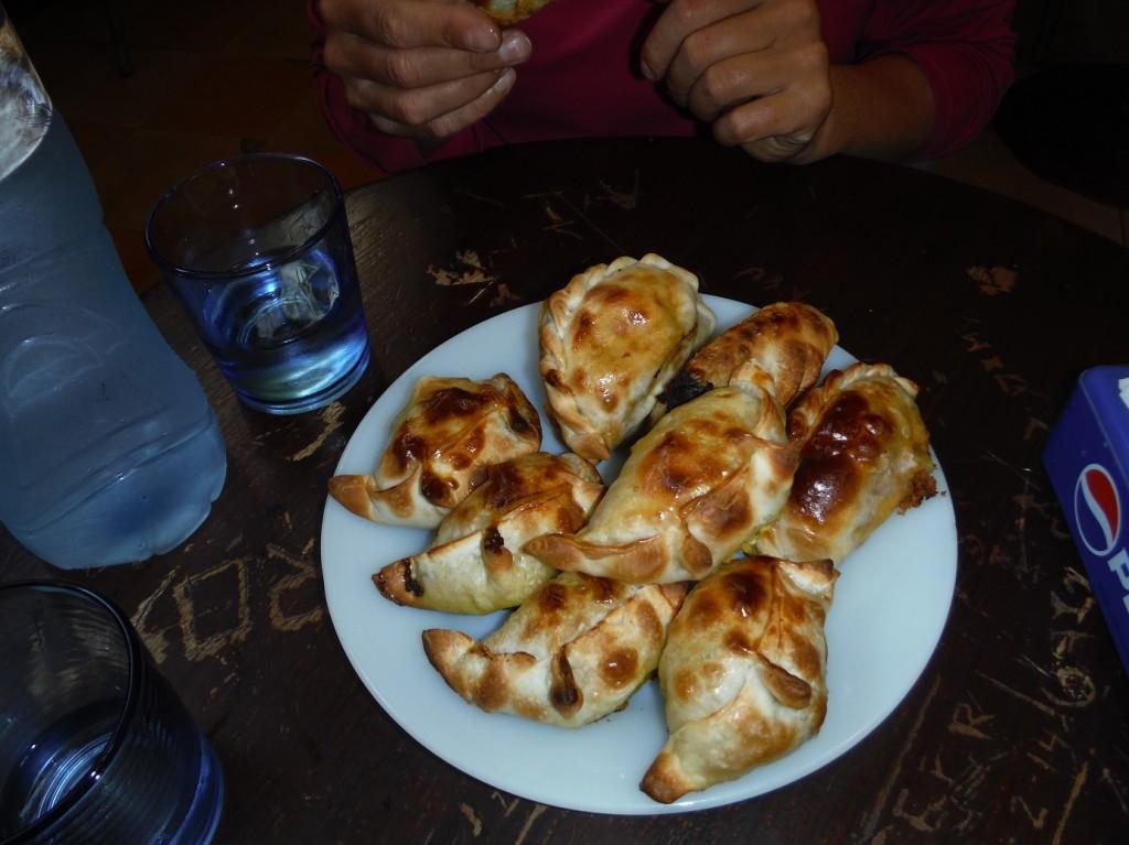 degustation d'empanadas...