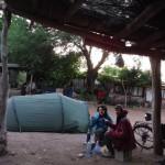 campement avec Fabian dans un jardin