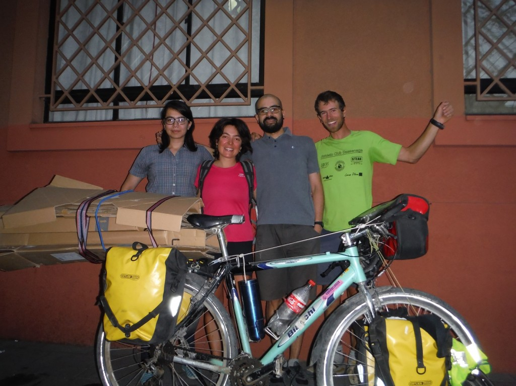 Claudia et Alejandro, le matin du depart